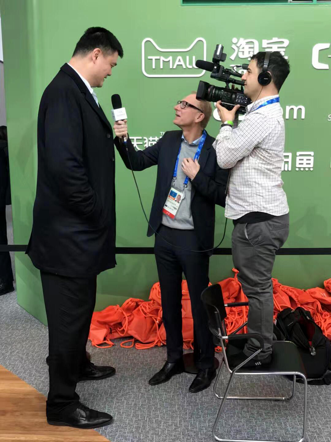 interview with Yao Ming, video production Seoul, South Korea